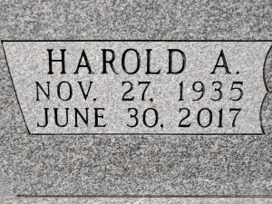 Cemetery Lettering - After Close-up - Family Memorials by Gibson