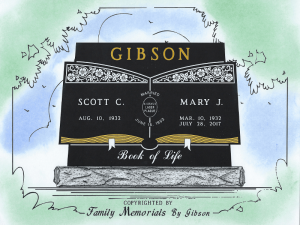 Example Color Proof - Family Memorials by Gibson