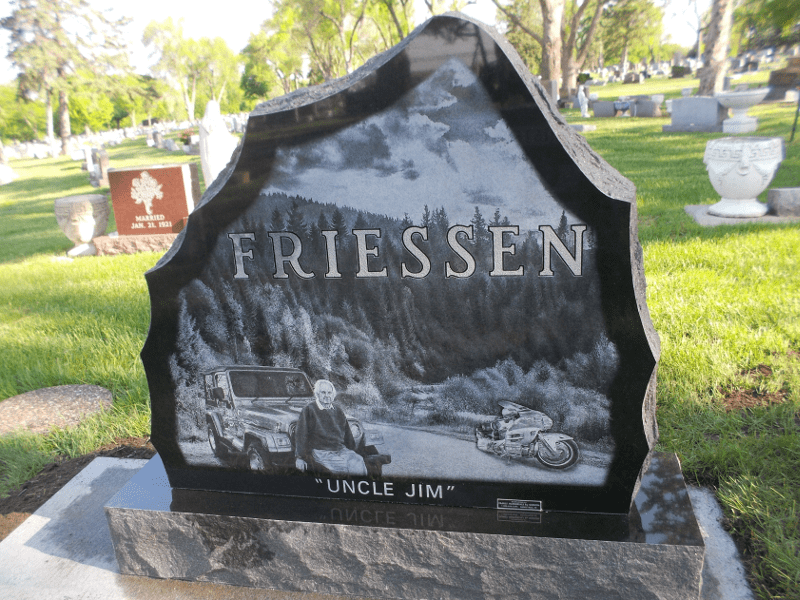 Laser Etching Is A Stunning Addition To Any Memorial Stone