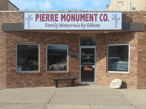 Family Memorials by Gibson - Pierre Monument Company Office