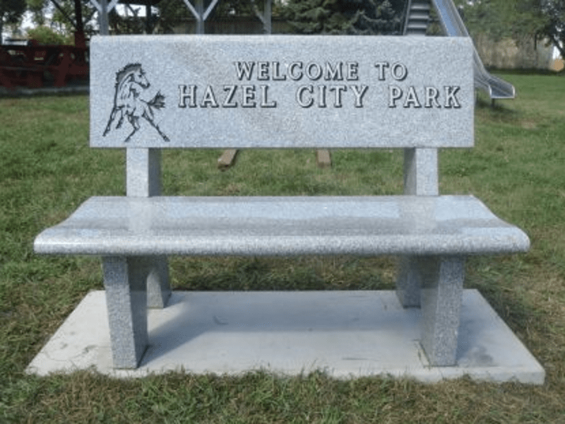 Hazel City Park Welcome Bench Family Memorials By Gibson